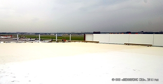 PLASTFOIL® was applied during the construction of a new airplane shed in Sheremetyevo